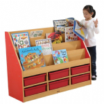 Milan Tiered Bookcase 6 Small Trays